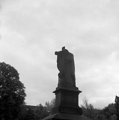 Gamla Örgryte kyrka (rotabaga) Tags: göteborg gothenburg sverige sweden svartvitt blackandwhite bw bwfp mediumformat mellanformat 120 6x6 tmax100 lomo lomography lubitel166 twinlens