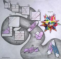 flying_fish (koshka_shprota) Tags: origami modular kusudama geometry diagram