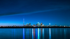 Toronto Blue (A Great Capture) Tags: agreatcapture agc wwwagreatcapturecom adjm toronto on ontario canada canadian photographer northamerica ash2276 ashleylduffus ald mobilejay jamesmitchell summer summertime 2016 city downtown lights urban night dark nighttime cityscape urbanscape eos digital waterscape reflection outdoor outdoors vibrant colorful cheerful vivid bright blue