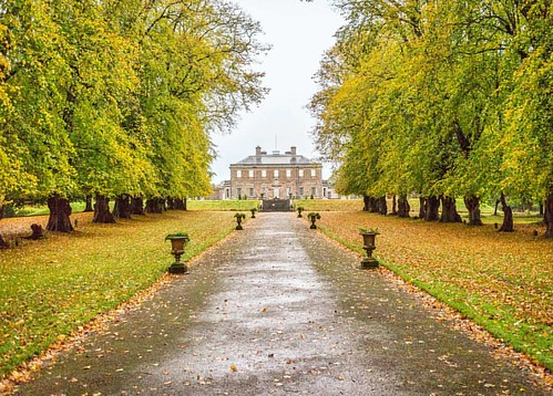 Autumn Trail Beautiful autumn trees framing the impressive Haddo House.  #haddohouse #road #leadinglines #trees #woods #old #rain #autumn #autumncolors #nature #calm #beautifulscotland #visitaberdeen #visitaberdeenshire #visitscotland #brilliantmoments #p