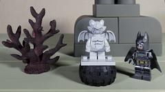 The Gargoyle and Batman (Busted.Knuckles) Tags: home toys lego minifigures gargoyle batman olympusomdm10mkii dxoopticspro11