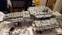 SHIPtember: Day 30. It's finished! (LegoSamBo) Tags: shiptember daedalus stargate lego