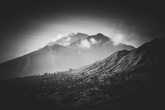 The Valley (Jorn Straten) Tags: mount batur asia indonesia mountain bnw bw bali