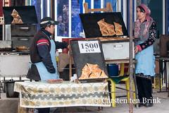 Khiva market (10b travelling) Tags: 10btravelling 2015 asia asien carstentenbrink centralasia dishonqala genericplaces iptcbasic ichonqala khiva otherkeywords polvondarvoza silkroad sovietunion ussr uzbek uzbekistan xiva east food gate market pastries pastry tenbrink thestans woman