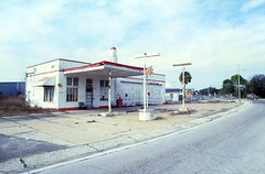 Abandoned gas station in Millville (State Library and Archives of Florida) Tags: florida millville abandonedbuildings servicestations gasstations dilapidations
