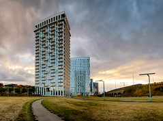 High skies (apersyannick) Tags: antwerp antwerpen par spoor noord north architecture architecturephotography new panorama appartments appt summer sky clouds sunset