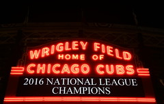 Photo of the Day Project, Oct. 23, 2016: The Wrigley Field marquee says it all - 2016 National League champions. (apardavila) Tags: nlcs postseason baseball chicagocubs majorleaguebaseball mlb sports wrigleyfield
