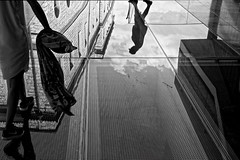 Poetry in motion (Tilemachos Papadopoulos) Tags: qoq reflection athens acropolis acropoloismuseum urban fujinon fujifilm fuji infrastructure mono monochrome people architecture street structure greece sky lines xt10 clouds candid vanishingpoint bw blackandwhite mirrorless