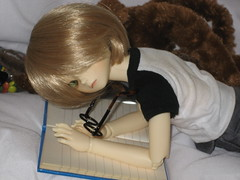 Reading Interrupted 003 (EmpathicMonkey) Tags: bjd bluefairy olive toby happy monkey photo story ball jointed dolls toys