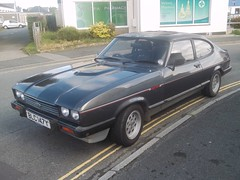 Ford Capri 2.8 Injection (occama) Tags: street old uk black ford car capri 1982 cornwall 28 injection blc147y