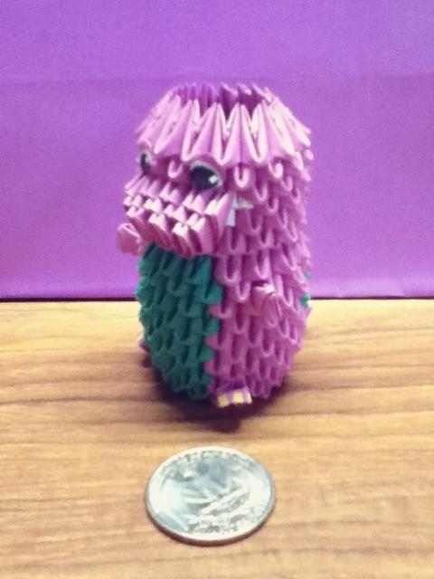 Origami Barney The Dinosaur Yumezakura Tags Cute 3d Present