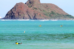 "The 'Mokes"" island, Kailua Bay, Oahu, Hawaii (EricJ777) Tags: ocean beach island hawaii bay oahu kailua mokes mokuluaislands mokulua windwardoahu"