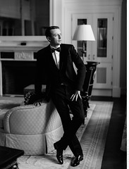 Konstantine (Anton Kuzmenkov) Tags: wedding portrait bw classic hotel groom interior classy