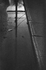 (theknark) Tags: blackandwhite abstract reflection toy holga lomography toycamera lofi 35mmfilm analogue expiredfilm selfdeveloped plasticlens holga135 ilfordid11 kodaktrixpan400 canoscan9000f