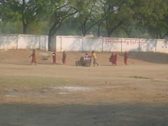 Monks in the Field Bagan