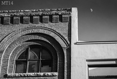 Crescents (06/02/2014) (Matthew Trevithick Photography) Tags: windows blackandwhite moon canada winnipeg princess random matthew crescent manitoba telephoto february comparison 2014 theexchange trevithick bannatyne matthewtrevithick mtphotography galtblock