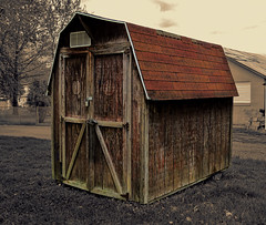 wooden shed (Sky_PA) Tags: wood sepia wooden backyard shed selenium