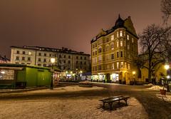 Wienerplatz II (juampatronics) Tags: winter snow night germany munich photography wienerplatz juampatronics