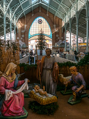 A Nativity Scene - Mercado Colon (Panasonic LX100) (markdbaynham) Tags: street leica city urban valencia de four lumix spain zoom market interior models panasonic espana mercado espanol third fixed ft metropolis es nativity dmc 43rd compact colon lx mercat evf lx100 2475mm f1728
