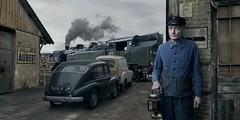 Mr Roubaud (blaisearnold.net) Tags: france lanterne train de smoke renault bleu travail locomotive prairie sncf fumée hotchkiss ouvrier aubert