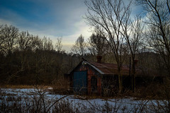 Vibe ,strive ,survive (justinbaumann262) Tags: old trees winter sky snow cold fall colors field barn alone country
