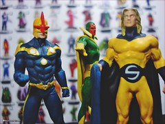 Nova, Vision and Sentry - Marvel Super Heroes (Gui Lopes BH) Tags: classic nova comics miniatures ultimate statues collection vision galaxy figurine marvel universe avengers sentry viso guardians miniaturas coleo ultron sentinela eaglemoss guilopesbh