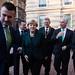 Angela Merkel német kancellár látogatása a budapesti Andrássy Egyetemen.