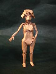 Girl BP - Komatsu (shuki.kato) Tags: girl naked nude origami box fold komatsu hideo pleating