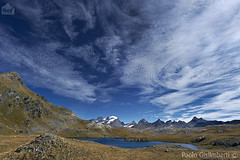 lago Tre Becchi e massiccio del Gran Paradiso, Tre Becchi lake and the massif of the Gran Paradiso (paolo.gislimberti) Tags: piemonte piedmont cloudysky mountainlandscape cielonuvoloso paesaggiodimontagna alpinegrassland prateriaalpina