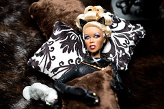 Rowr (famousfeline) Tags: cat comics dc doll barbie jewelry diamond hero thief 16 villain catwoman mattel diorama rupauldoll