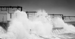 IMG_5974_adj-2 (md93) Tags: sea white storm black train mono clyde waves scotrail hightide ardrossan saltcoats sandylands supertide