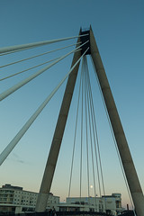 Lancashire 2014-10 - Southport - Millennium Bridge & The Moon (ken_davis) Tags: lancashire southport kendavis leicam9