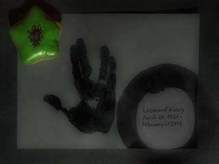 Death of Leonard Nimoy 27. Februar 2015 Mr. Spock, green blooded logical thinking Vulcan - Star Trek - Vulcan Salute: