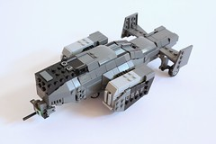 Bellock Gunship (✠Andreas) Tags: lego aircraft military shuttle scifi gunship legoaircraft legomilitary legogunship