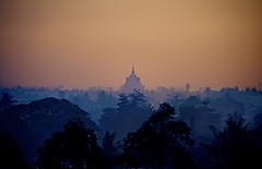 Twilight (Eug3nio) Tags: trees sunset skyline forest palms landscape pagoda twilight asia cambodia battambang