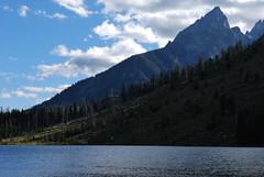 Leigh Lake (mike_jacobson1616) Tags: sky lake mountains water nationalpark alpine peaks tetons grandteton grandtetonnationalpark mtmoran leighlake leighlaketrail