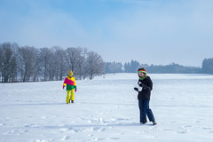 Hold Fast To Dreams (christopher_brown) Tags: snow germany children landscape bayern deutschland bavaria play oberbayern snowday badendorf