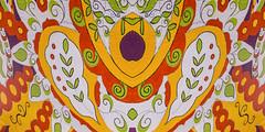 wall art (jojoannabanana) Tags: reflection art mural colorful processed canonpowershot s100 brockport
