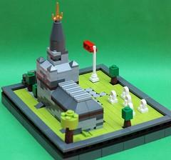 Microscale church 2 (adde51) Tags: scale church grave lego headstone micro moc microscale adde51