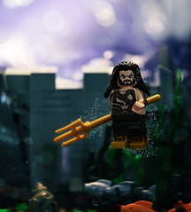 King of Atlantis (Andrew Cookston) Tags: city blue stilllife macro comics toy photography dc underwater lego bubbles atlantis minifig dccomics custom aquaman moc bvs darkgrey brickforge dawnofjustice andrewcookston onlinesailin batmanvsuperman jasonmaomoa