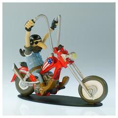 Joe Bar Team HD chopper (iveka19) Tags: joebarteam joebar figurine moto motorcycle ventsdouest figur motard motorradfahrer biker bd comicbook hd chopper harleydavidson