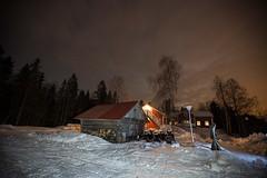 63-Moonlight_Cottages8 copy (Beverly Houwing) Tags: snow building night suomi finland frozen fullmoon lapland moonlight kukkola bungalow kukkolankoski