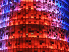 Torre Agbar (attilaboros86) Tags: barcelona tower night skyscraper spain catalunya torreagbar