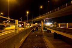 A406 North Circular, Woodford Green (LFaurePhotos) Tags: a406 northcircular northeastlondon london night afterdark londonboroughofredbridge flyover concrete urban intersection road southendroad vehicles street