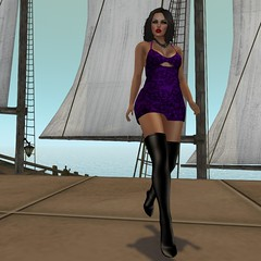 High Seas (--- FEARSUM ---) Tags: slink belleza maitreya tonic eve tmp hourglass physique curvy slim fine pulpy isis freya venus fitted mesh mini dress lace system classic default demo