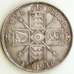 Coin photography - 1916 Great Britain - One Florin (kevin dooley) Tags: greatbritain england english canon photography coin gb 1916 florin 80d oneflorin coinphotography