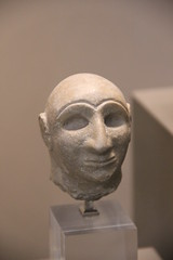 Limestone head of a man, Umm el-Aqarib? Early Dynastic Period III, c. 2400 BC (Gary Lee Todd, Ph.D.) Tags: france louvre paris ancient neareast