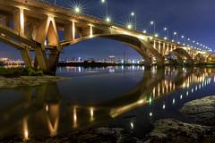 - Golden reflection of Wanban Bridge (basaza) Tags: canon 30d 1635   taipei