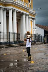 Travelling Salesman (PhoSograPhie) Tags: hat rain nikon cathedral granada chapeau nicaragua sombrero nikkor d800 parquecentral centroamerica 2470mm visitnicaragua phosographie