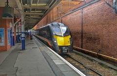 Grand Central Arrival, Platform 1, Doncaster. (ManOfYorkshire) Tags: class180 adelante dmu diesel unit grandcentral trains railway 1 doncaster station striking platform arrival london kingsross service nonstop